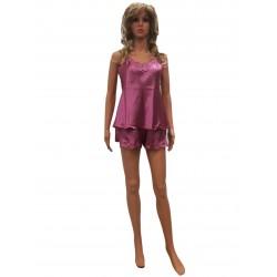 Дамска пижама Rbc Rebecca 204 / 2-18.03.2020 - тънка презрамка и къси панталони.