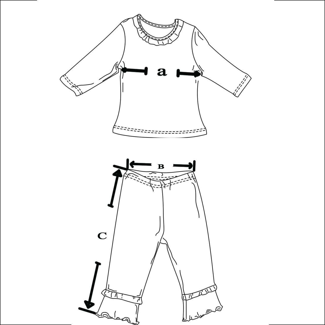 Размери на дамска пижама
